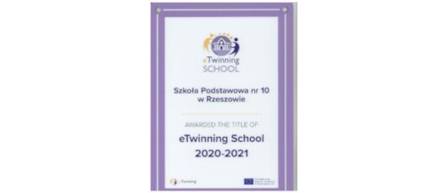 Nasza Szkoła posiada Odznakę Szkoły eTwinning 2020-2021