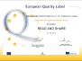 Europejskie Odznaki Jakości za projekty eTwinning - 26.10.2017 r.